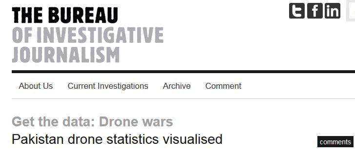 Drone strike statistics digital empire for Bureau for investigative journalism