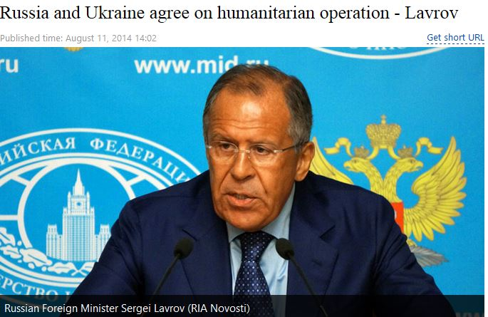 Russia Ukraine agree on humanitarian operation